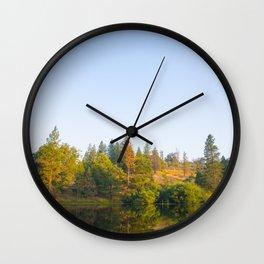 Lake Reflection Wall Clock