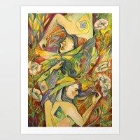 White Poppies Art Print
