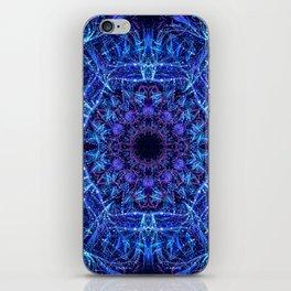 Blue Crystal Mandala iPhone Skin