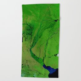 Floods in Argentina Beach Towel