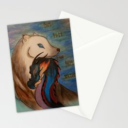 The Dragon and the Wolf Stationery Cards