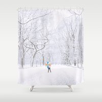 central park Shower Curtains featuring Central Park  by Vivienne Gucwa
