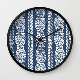 Cable Navy Wall Clock