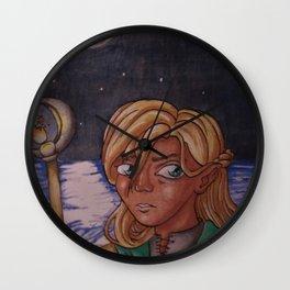 Moon Mage Wall Clock
