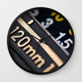 Modern zoom photo camera lens Wall Clock