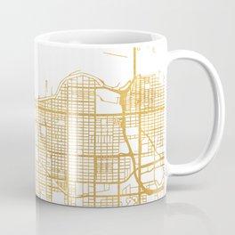 VANCOUVER CANADA CITY STREET MAP ART Coffee Mug