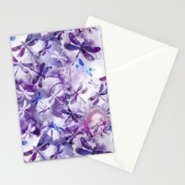 Dragonfly Lullaby in Pantone Ultraviolet Purple Stationery Cards