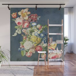 Floral Tribute to Louis McNeice Wall Mural