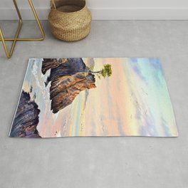 Lone Cypress Tree Pebble Beach California Rug