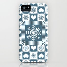 Winter Snowflake Christmas Pattern iPhone Case