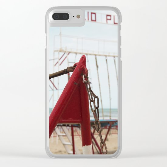 Beach H Clear iPhone Case