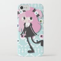 pastel goth iPhone & iPod Cases featuring Pastel Goth by Irene Dose