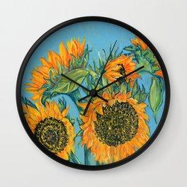 Birthday Sunflowers Wall Clock