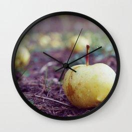 Fallen Apple Wall Clock