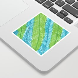 Blue and Green Palm Leaves Sticker
