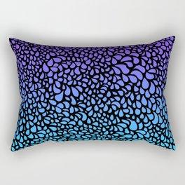Drops - purple turquoise ombre tones Rectangular Pillow
