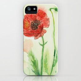 Soft Red Poppies iPhone Case