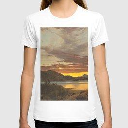 Maine Sunset by Frederic Edwin Church T-shirt