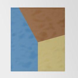 Color block #3 Throw Blanket