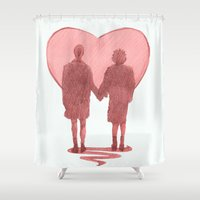 fight Shower Curtains featuring fight club ending by Doruktan Turan