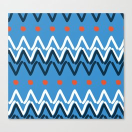 Funky Mud Cloth Art Design Canvas Print