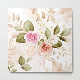 Watercolor Roses 1 Metal Print