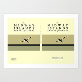 The Midway Islands Travel Journal Poster Art Print