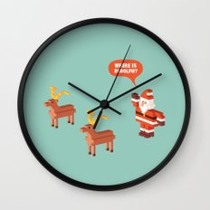 Where is Rudolph? Wall Clock