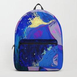 I'm blue. Backpack