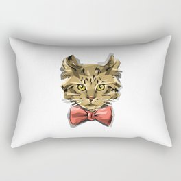 Bow Kitty Rectangular Pillow