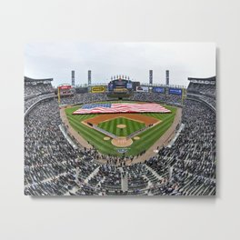 Cubs Baseball Stadium Metal Print