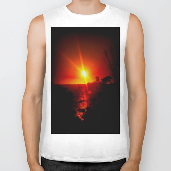 As the Sunsets Biker Tank
