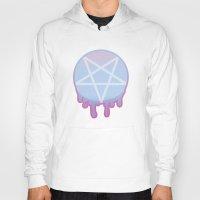 pentagram Hoodies featuring Pastel Pentagram by andy