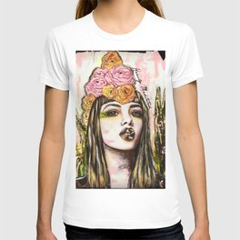 modern bohemian art heavily meditated T-shirt