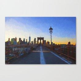 Brooklyn Bridge Impressions Canvas Print