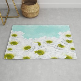 Summer Day Floral - Daisies Rug