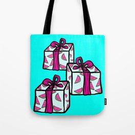 Aussie Christmas Card Set Pink & Aqua Design#2 Watermelon Wrapping Tote Bag