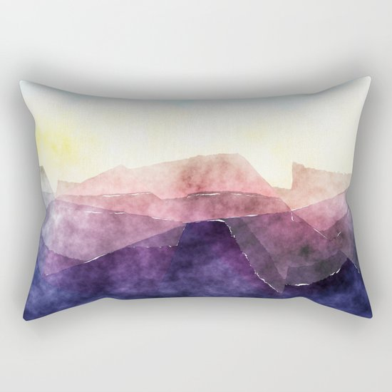 In the sea- abstract watercolor - Original triangle pattern Rectangular Pillow