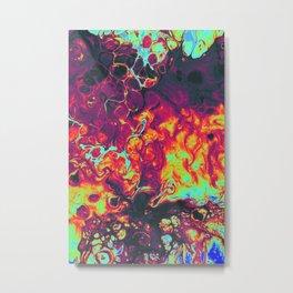 trippy colors psycheledic artwork Metal Print