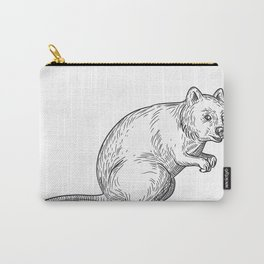 Quokka Drawing Black and White Carry-All Pouch