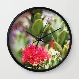 Ohi'a Lehua Wall Clock