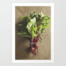 dropped the beet Art Print