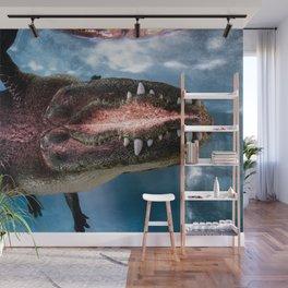 Jurassic Mirror Wall Mural