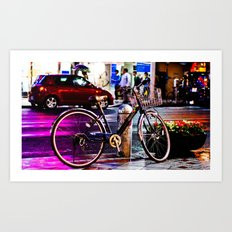 Purple Bicycle Art Print