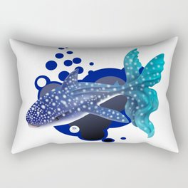 Winsome Whalie Rectangular Pillow