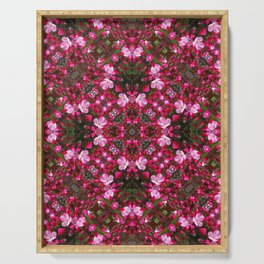 Spring blossoms kaleidoscope - Strawberry Parfait Crabapple Serving Tray