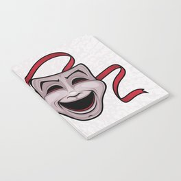 Comedy And Tragedy Theater Masks Notebook
