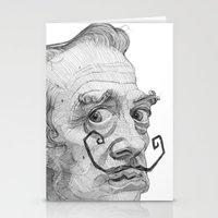 salvador dali Stationery Cards featuring Salvador Dali by Stavros Damos