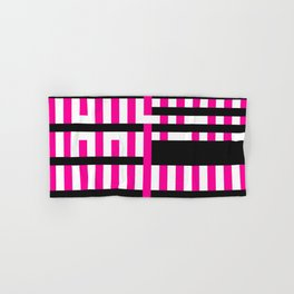 Licorice Bytes, No.19 in Black and Pink Hand & Bath Towel