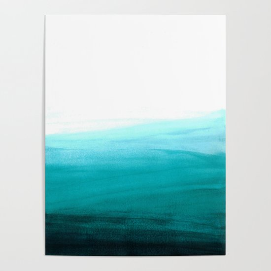 Ombre background in turquoise by bonheurem